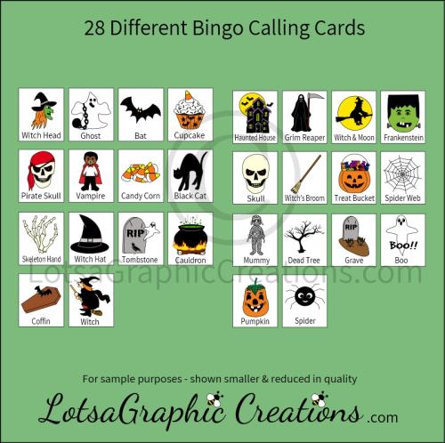 Third Additional product image for - Printable Halloween Bingo Game Set