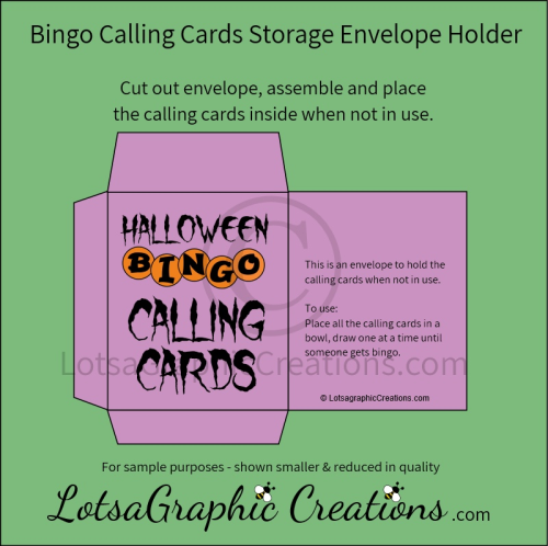 Fourth Additional product image for - Printable Halloween Bingo Game Set