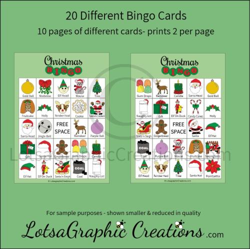 First Additional product image for - Printable Christmas Bingo Game Set
