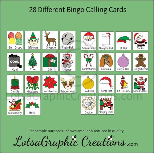 Third Additional product image for - Printable Christmas Bingo Game Set