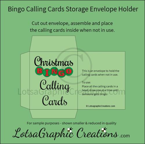 Fourth Additional product image for - Printable Christmas Bingo Game Set