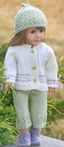 dollknittingpattern 0221d anna thea - summersuit, cap, jacket and shoes-(english)