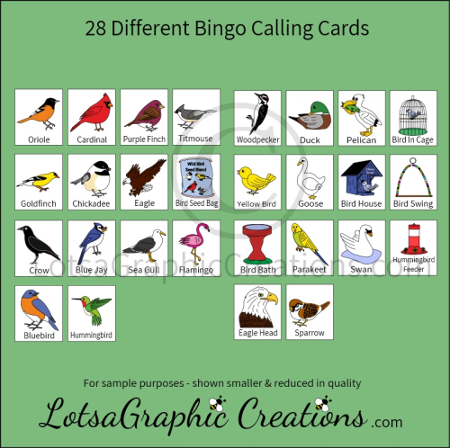 Second Additional product image for - Printable Birds Bingo Game Set