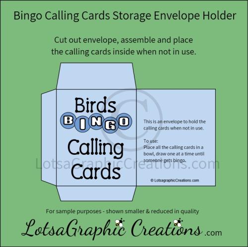 Third Additional product image for - Printable Birds Bingo Game Set