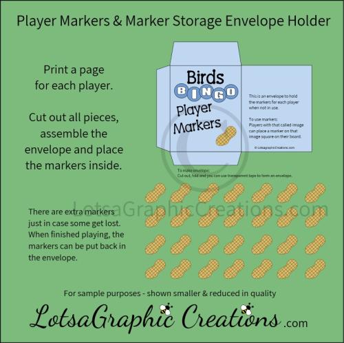 Fourth Additional product image for - Printable Birds Bingo Game Set