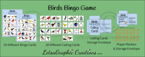 Printable Birds Bingo Game Set | Other Files | Arts and Crafts