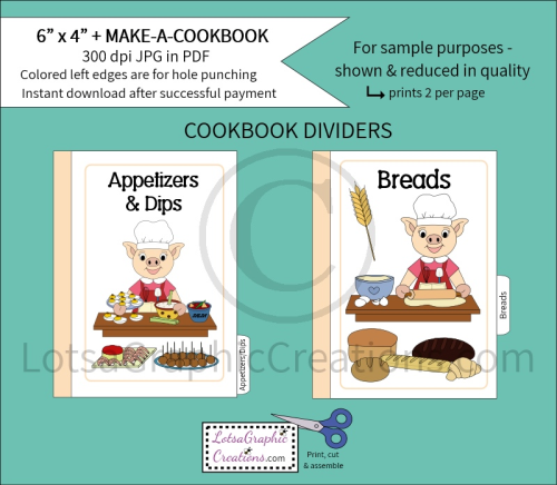 Second Additional product image for - 6x4 + Printable Make-A-Cookbook Pig Cooking
