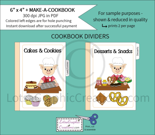Third Additional product image for - 6x4 + Printable Make-A-Cookbook Pig Cooking