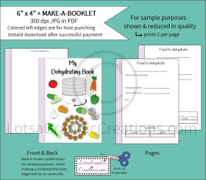 6x4 + printablemake-a-booklet dehydrating