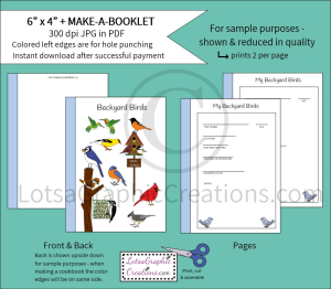 6x4 + PrintableMake-A-Booklet Backyard Birds | Other Files | Arts and Crafts