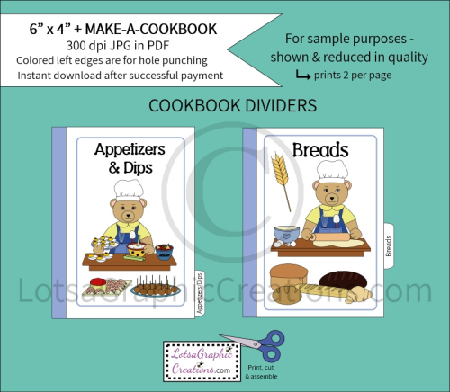 Second Additional product image for - 6x4 + Printable Make-A-Cookbook Bear Cooking