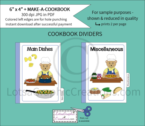 Fourth Additional product image for - 6x4 + Printable Make-A-Cookbook Bear Cooking
