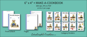 6x4 + Printable Make-A-Cookbook Bear Cooking   Other Files   Arts and Crafts