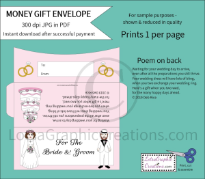 For The Bride & Groom White Money Gift Envelope   Other Files   Arts and Crafts