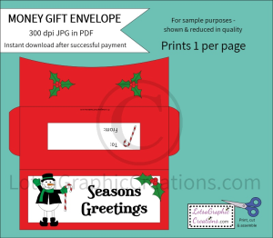 Seasons Greetings Money Gift Envelope | Other Files | Arts and Crafts