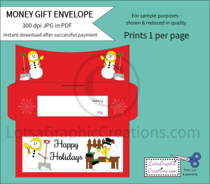 Happy Holidays Money Gift Envelope | Other Files | Arts and Crafts