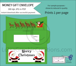Merry Christmas Santa Money Gift Envelope   Other Files   Arts and Crafts