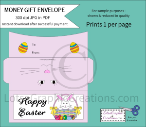 Happy Easter Money Gift Envelope   Other Files   Arts and Crafts