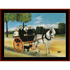 the horse cart – henri rousseau cross stitch pattern by kathleen george at cross stitch collectibles
