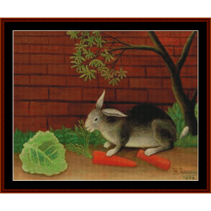 The Rabbit's Meal – Henri Rousseau cross stitch pattern by Kathleen George at Cross Stitch Collectibles | Crafting | Cross-Stitch | Other