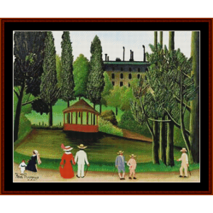 Montsouris Park – Henri Rousseau cross stitch pattern by Kathleen George at Cross Stitch Collectibles | Crafting | Cross-Stitch | Other