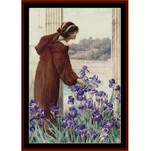 allegory of spring – henry ryland cross stitch pattern by kathleen george at cross stitch collectibles