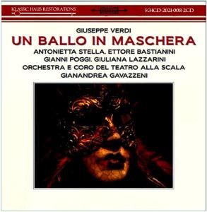 Verdi Un ballo in maschera - 1960 La Scala recording | Music | Classical
