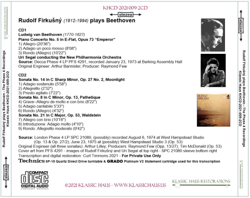 First Additional product image for - Rudolf Firkušný (1912-1994) plays Beethoven
