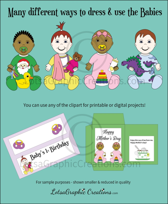 First Additional product image for - Babies 109 Pc. Clipart Set