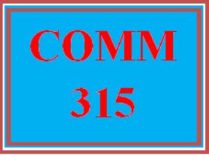 comm 315 wk 3 discussion - socially conscious behaviors