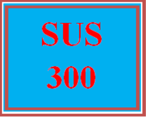 sus 300 wk 2 discussion - water supply