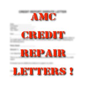 amc credit repair letters!