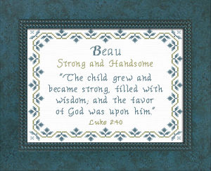 Name Blessings - Beau   Crafting   Cross-Stitch   Other