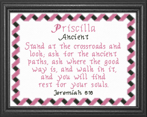 Name Blessings - Priscilla | Crafting | Cross-Stitch | Other
