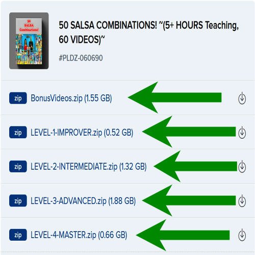 First Additional product image for - 50 SALSA COMBINATIONS! ~(5+ HOURS Teaching, 60 VIDEOS)~