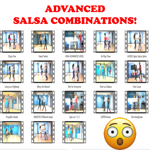 Third Additional product image for - 50 SALSA COMBINATIONS! ~(5+ HOURS Teaching, 60 VIDEOS)~
