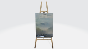 3d original art easel mountain haze