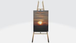 3d original art easel ocean drift