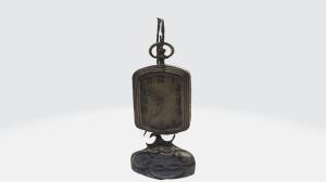3d unique antique hanging clock