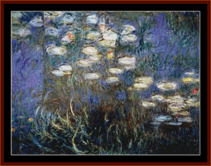 waterlilies 12 - monet – cross stitch pattern by cross stitch collectibles