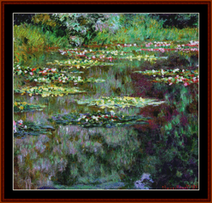 waterlilies 13 - monet – cross stitch pattern by cross stitch collectibles