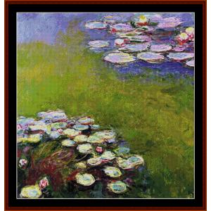 waterlilies 15 – monet cross stitch pattern by cross stitch collectibles