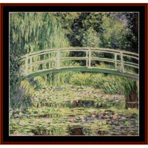 japanese bridge vii - monet – cross stitch pattern by cross stitch collectibles