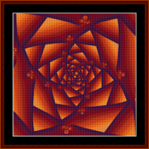 fractal 23 (small) cross stitch pattern by kathleen george at cross stitch collectibles