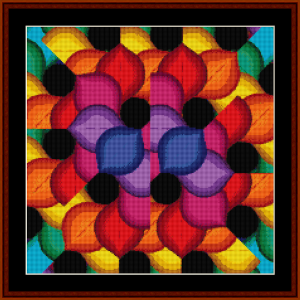 fractal 144 (small) cross stitch pattern by kathleen george at cross stitch collectibles