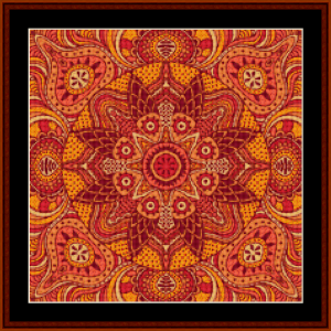 fractal 511 (small) cross stitch pattern by kathleen george at cross stitch collectibles