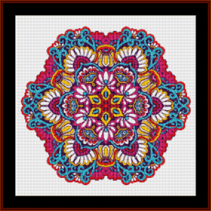 mandala 72 (small) cross stitch pattern by kathleen george at cross stitch collectibles