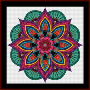mandala 73 (small) cross stitch pattern by kathleen george at cross stitch collectibles