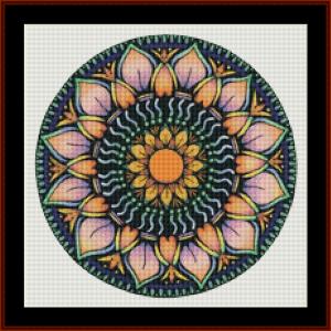 mandala 74 (small) cross stitch pattern by kathleen george at cross stitch collectibles