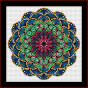 mandala 75 (small) cross stitch pattern by kathleen george at cross stitch collectibles